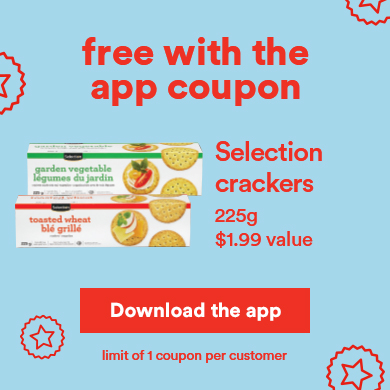 Free with the app coupon - Selection crackers - Download the app