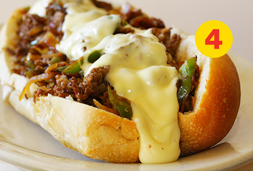 Simple Idea #4 for Ground Beef Meal: Quick Philly cheesesteaks