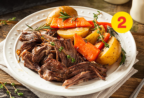 Delicious red wine beef stew