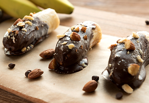Frozen bananas