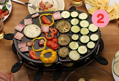 Tip #2: vegetables and fish for a healthy raclette