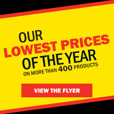 Our lowest prices of the year