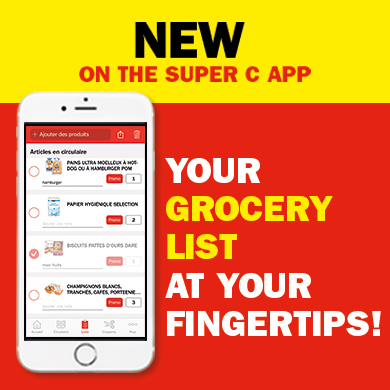 Your Grocery List at Your Fingertips!
