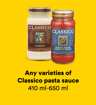 Any varieties of Classico pasta sauce 410-650 ml